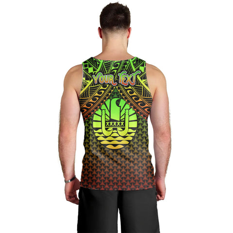 Polynesian Tahiti Personalised Men's Tank  Top - Reggae Vintage Polynesian Patterns