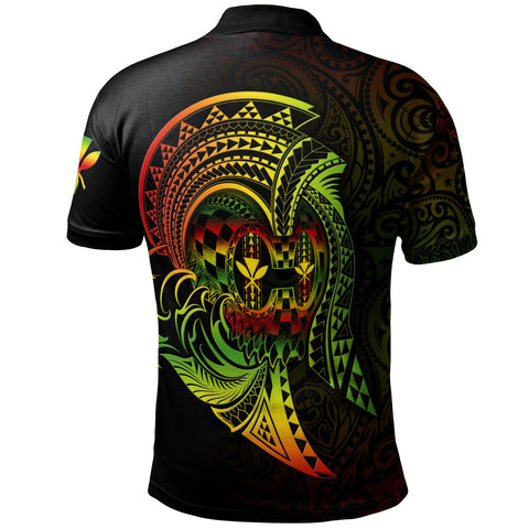 Hawaii Polo Shirt - Reggae Kanaka Warrior