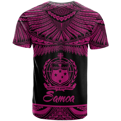 Samoa Polynesian Custom Personalised T-Shirt - Samoa Pride Pink Version - BN12