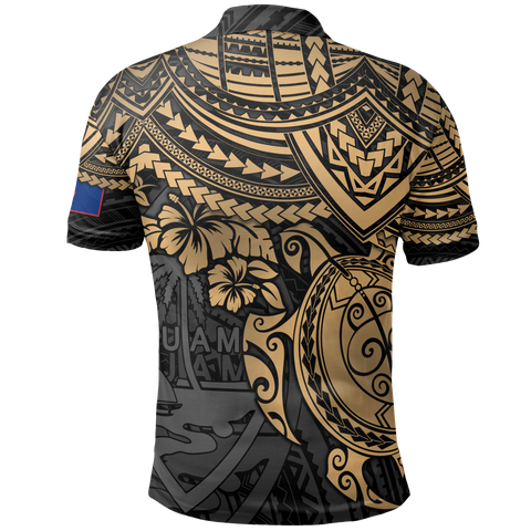 Guam Polynesian Polo Shirt - Golden Turtle
