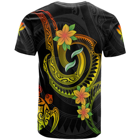 Hawaii Custom Personalised T- Shirt - Reggae Plumeria Flowers with Spiral Patterns