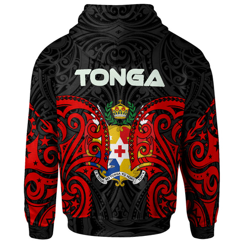 Image of Tonga Polynesian Zip Up Hoodie - Tongan Spirit - BN12