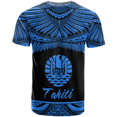 Tahiti Polynesian Custom Personalised T-Shirt - Tahiti Pride Blue Version - BN12