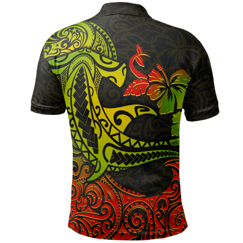 Hawaii Polo Shirt - Polynesian Hammerhead Shark