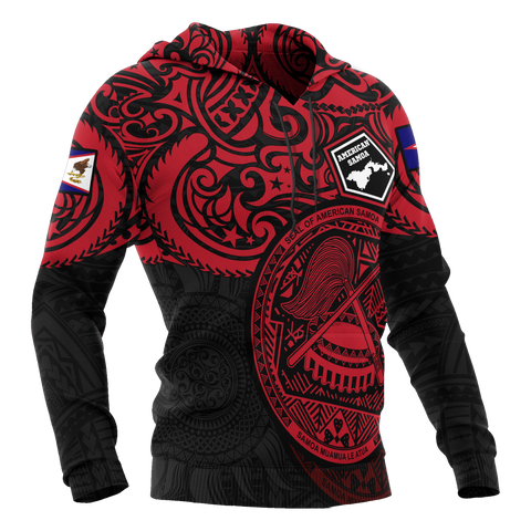 Image of American Samoa Hoodie - National Pride (Red)