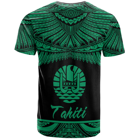 Tahiti Polynesian Custom Personalised T-Shirt - Tahiti Pride Green Version - BN12
