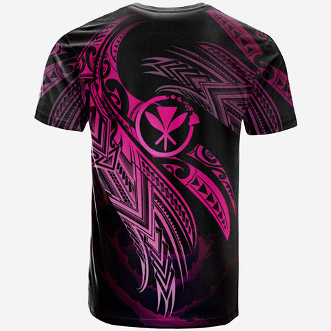 Hawaii Polynesian T-Shirt - Hawaii Legend Pink Version - BN12