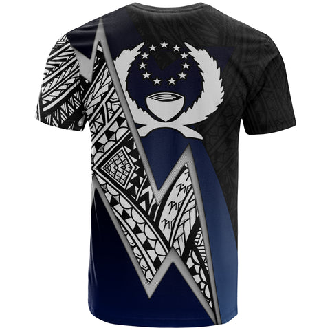 Image of Pohnpei Micronesian Custom Personalised T-Shirt - Blue Lighting Piece
