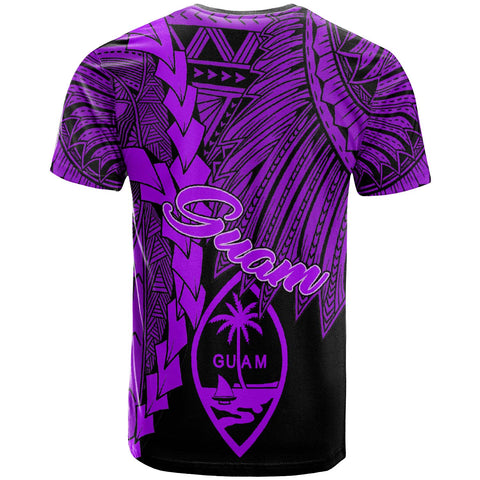Guam Polynesian T-Shirt - Tribal Wave Tattoo Purple - BN12