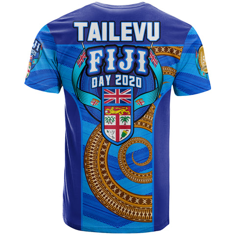 Image of Fiji T-Shirt - Fiji Day Tailevu Provinces With Tapa Patterns - BN12