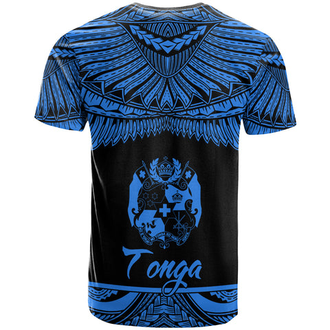 Tonga Polynesian Custom Personalised T-Shirt - Tonga Pride Blue Version - BN12