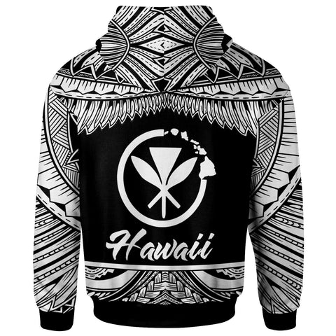 Image of Hawaii Polynesian Hoodie - Hawaii Pride White Version - BN12