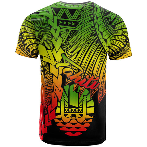 Tahiti Polynesian T-Shirt - Tribal Wave Tattoo Reggae - BN12