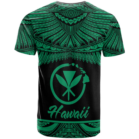 Hawaii Polynesian Custom Personalised T-Shirt - Hawaii Pride Green Version - BN12