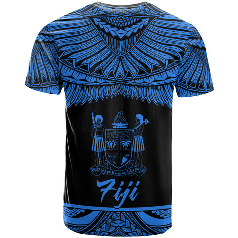 Fiji Polynesian Custom Personalised T-Shirt - Fiji Pride Blue Version - BN12