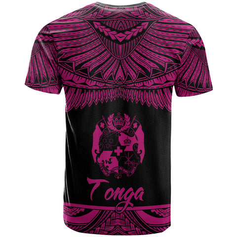 Image of Tonga Polynesian Custom Personalised T-Shirt - Tonga Pride Pink Version - BN12