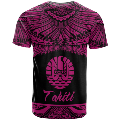 Tahiti Polynesian Custom Personalised T-Shirt - Tahiti Pride Pink Version - BN12