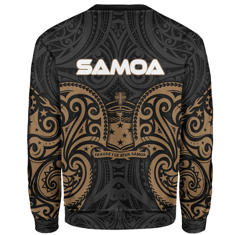 Samoa Polynesian Custom Personalised Sweater - Spirit Style Gold - BN12