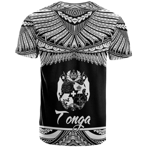 Tonga Polynesian Custom Personalised T-Shirt - Tonga Pride White Version - BN12