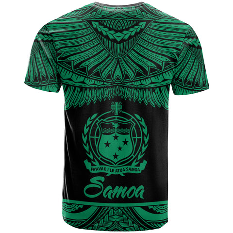 Image of Samoa Polynesian T-Shirt - Samoa Pride Green Version - BN12