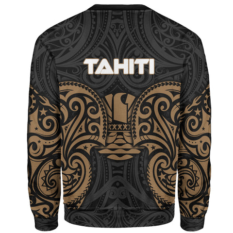 Tahiti Polynesian Custom Personalised Sweater - Spirit Style Gold - BN12