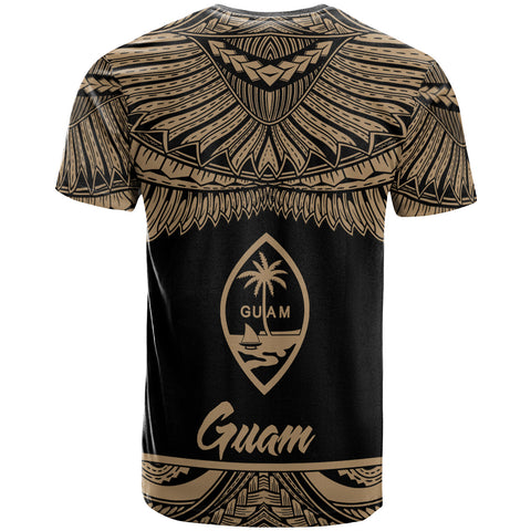 Guam Polynesian Custom Personalised T-Shirt - Guam Pride Gold Version - BN12