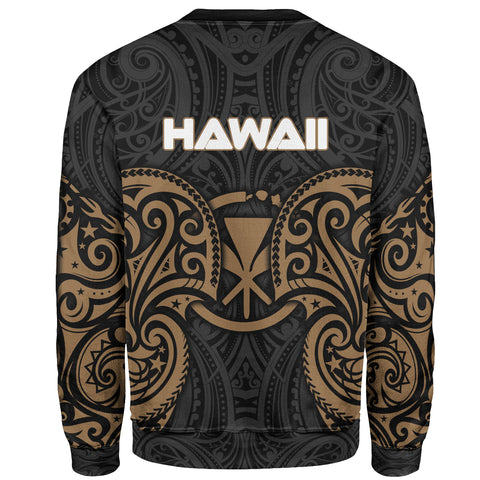 Hawaii Polynesian Custom Personalised Sweater - Spirit Style Gold - BN12