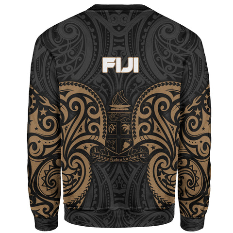 Fiji Polynesian Custom Personalised Sweater - Spirit Style Gold - BN12