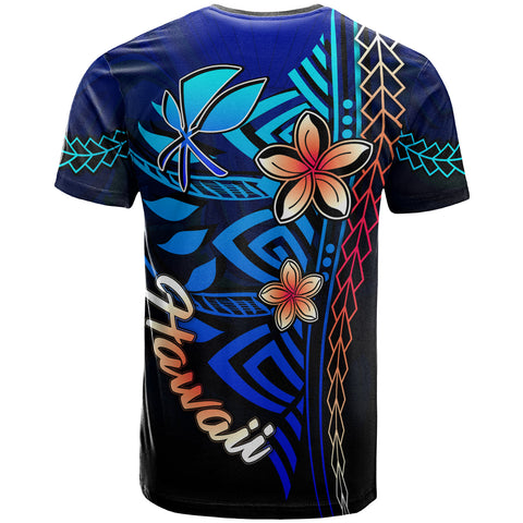 Hawaii Custom Personalised T-Shirt Blue - Vintage Tribal Mountain