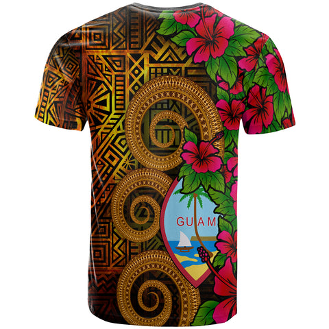 Image of Guam Polynesian Custom Personalised T-Shirt - Hibiscus Vintage - BN12