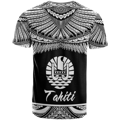 Tahiti Polynesian Custom Personalised T-Shirt - Tahiti Pride White Version - BN12
