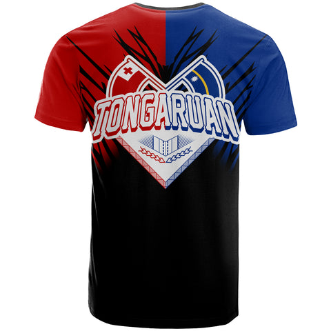 Tongaruan All Over T-Shirt - Tongaruan Coat Of Arms Break Style - BN09