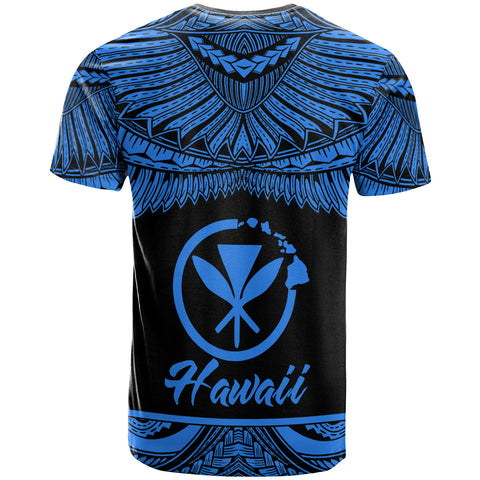 Hawaii Polynesian Custom Personalised T-Shirt -Hawaii Pride Blue Version - BN12