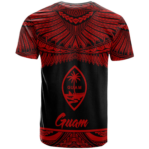 Guam Polynesian Custom Personalised T-Shirt - Guam Pride Red Version - BN12