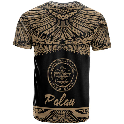 Palau Polynesian Custom Personalised T-Shirt - Palau Pride Gold Version - BN12