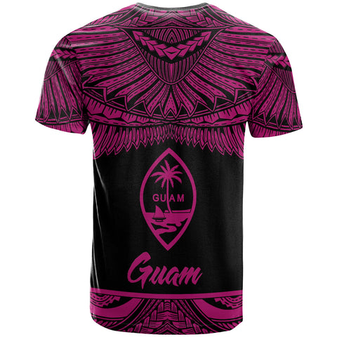 Image of Guam Polynesian Custom Personalised T-Shirt - Guam Pride Pink Version - BN12