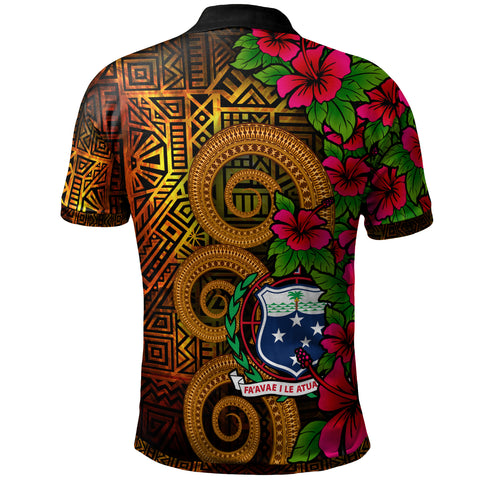 Image of Samoa Polynesian Custom Personalised Polo Shirt - Hibiscus Vintage - BN12