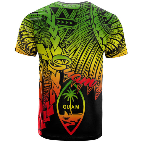 Guam Polynesian T-Shirt - Tribal Wave Tattoo Reggae - BN12
