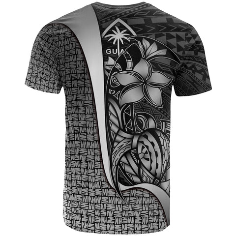 Guam Polynesian Custom Personalised T-Shirt White - Turtle with Hook