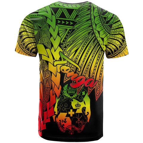 Tonga Polynesian Custom Personalised T-Shirt - Tribal Wave Tattoo Reggae - BN12
