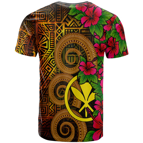 Hawaii Polynesian Custom Personalised T-Shirt - Hibiscus Vintage - BN12