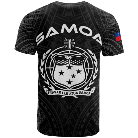 Samoa Polynesian T-Shirt - Samoan Legends White Version - BN12