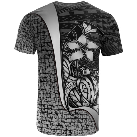 Polynesian T-Shirt White - Turtle with Hook