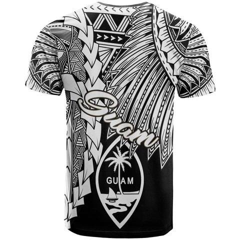 Guam Polynesian T-Shirt - Tribal Wave Tattoo White - BN12