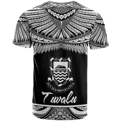 Image of Tuvalu Polynesian T-Shirt - Tuvalu Pride White Version - BN12