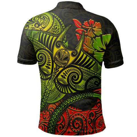Hawaii Polo Shirt  - Polynesian Manta Ray