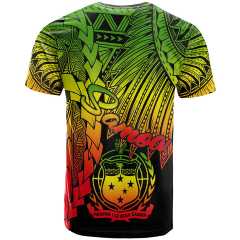 Image of Samoa Polynesian T-Shirt - Tribal Wave Tattoo Reggae - BN12