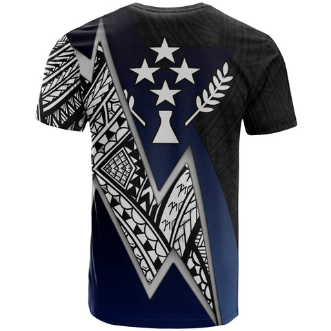 Kosrae Micronesian Custom Personalised T-Shirt - Blue Lighting Piece