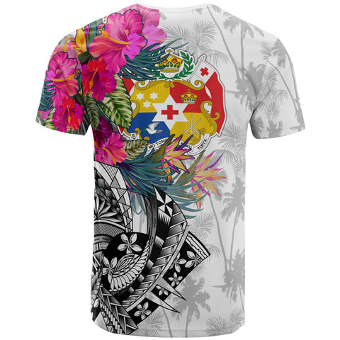 Tonga Custom Personalised T-Shirt - Summer Vibes (White)
