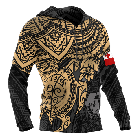 Image of Tonga Polynesian Hoodie - Golden Turtle